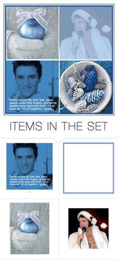 """elvis blue christmas contest"" by art-gives-me-life ❤ liked on Polyvore featuring art, contestentry and Artspiration"