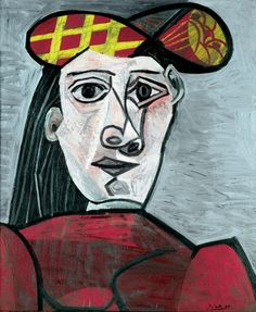 """Pablo Picasso - """"Bust of Woman with Hat"""". 1941"""