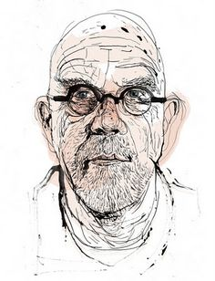 Chuck Close by Patrick Morgan Patrick Morgan has shown work all over the world, USA, Japan,  Europe. he is also a tutor at Istituto Marangoni.  I love the detail in the eyes. There are so many lines to show the wrinkles under the eyes and on to the cheeks.