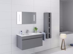 "New 1001 Now Modern Grey 36"" Bathroom Vanity MJ2005"