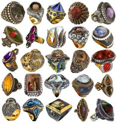 A third collection of rings by Sevan Bıçakçı, aka the Lord of the Rings. I posted other collections here and here.