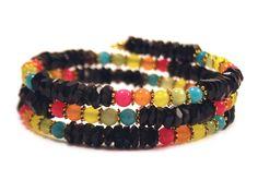 Fiesta coil bracelet from Lumibon