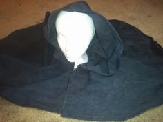Hooded Capelet Black Canvas Unlined LARP SCA by DragonessDelights on Etsy. A capelet might just work for me and be a nice change, rather than a full hooded cloak.