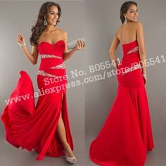 Red Long Dress Cheap