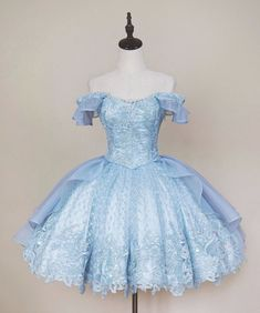 AloisWang -The Little Mermaid- Vintage Classic Lolita Jumper Dress AloisWang – La petite sirène – Robe pull classique Lolita classique Mode Outfits, Dress Outfits, Fashion Dresses, Girly Outfits, Chic Outfits, Fashion Clothes, Summer Outfits, Kawaii Fashion, Lolita Fashion
