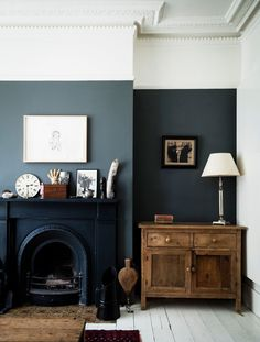 Are Dark Green Walls the New White Walls? (Short Answer: We Think Maybe) - Emily Henderson Are Dark Green Walls the New White Walls? (Short Answer: We Think Maybe) - Emily Henderson Style At Home, Home Living Room, Living Spaces, Dark Walls Living Room, Living Area, Dark Green Living Room, Dark Wood Furniture Living Room, Living Room Wall Colours, Living Room Decor Ideas With Fireplace