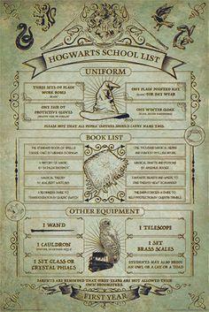 Harry Potter - Hogwarts School List - Plakát, Obraz na zeď Harry Potter Poster, Hogwarts Poster, École Harry Potter, Magia Harry Potter, Harry Potter Bedroom, Harry Potter Cosplay, Harry Potter Halloween, Harry Potter Christmas, Harry Potter Products