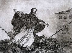 May the rope break - Francisco Goya, #etching, etching, aquatint