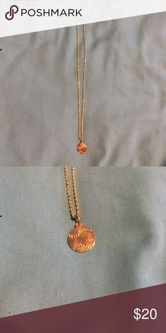 Gold Softball Necklace Softball pendant Jewelry Necklaces