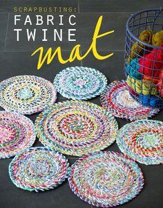 Fabric twine mat tutorial