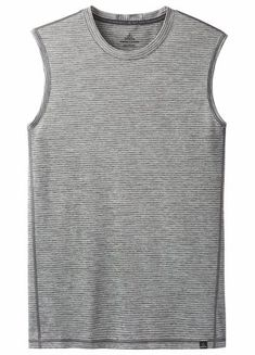 Prana Mens Hardesty Sleeveless Shirt Titanium Grey Stripe (Close Out) Summer Outfits Men, Summer Clothes, Mens Workout Shirts, Sleeveless Shirt, Grey Stripes, Tank Man, Mens Tops, Fashion, Gray Stripes