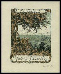 ≡ Bookplate Estate ≡ vintage ex libris labels︱artful book plates - Ex libris Georg Jilovsky (1916)