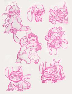 Lilo and Stitch Sketches