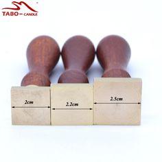Square Blank Tesnenie Stamp drevená rukoväť Prázdny pečiatka pre svadobné…
