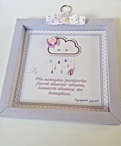 Quadro decorativo tema Nuvem (scrapbook)