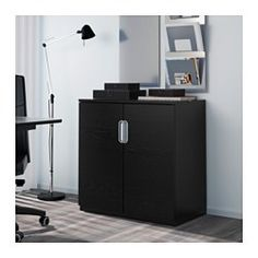 IKEA - GALANT, Cabinet with doors, black-brown, , 10-year Limited Warranty. Read…