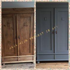 Antika svarta tavla skåpet av Pure & Original i Oxford Blue, . Old Furniture, Paint Furniture, Furniture Makeover, Furniture Refinishing, Oxford Blue, Interior Inspiration, Sweet Home, House Design, Pure Products