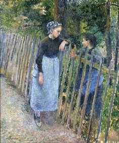 Conversation, by Camille Pissarro (French, 1830–1903)                                                                                                                                                      More