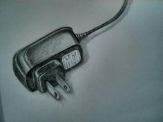 30 días dibujando: 10/30.  #Dibujo #draw #drawing #pencil #lapiz #charger