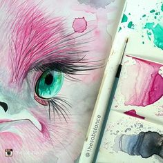 Last chance to see this week's featured artist @thesabstance  on goodartguide.com  Head over there now and don't forget to follow @thesabstance 'Almost done with Miss Ostrich... ' #watercolour #pink #turquoise #ostrich #Sabstance #art #illustration #picture #artist #sketch #sketchbook #paper #pen #pencil #artsy #instaart #beautiful #instagood #gallery #masterpiece #creative #photooftheday #instaartist #graphic #graphics #artoftheday