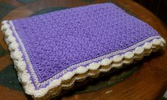 Great baby blanket for the crib or stroller! If you're looking for a quick and easy blanket blanket, this pattern is just for you. Because its not a full sized blanket, it is fun and fast to make.