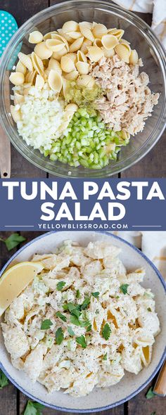 My Tuna Pasta Salad is the perfect picnic lunch or anytime meal. With tender pasta, a creamy dressing and healthy tuna, it's the perfect meal for any time. via Kristin B Salad Recipes For Dinner, Pasta Salad Recipes, Seafood Recipes, Cooking Recipes, Cold Pasta Recipes, Recipe Pasta, Seafood Pasta, Penne Pasta, Drink Recipes