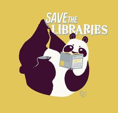 Save the Libraries - I finally got my library card yesterday after living her for 4 years...don't judge.