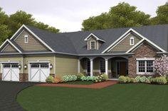 Ranch Exterior - Front Elevation Plan #1010-84 - Houseplans.com