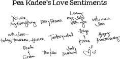 FREE Pea Kadee's Love Sentiments Font #DIY #Fonts