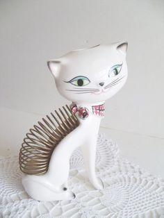 Cat letter holder from the shop Mrs Rekamepip on Estsy