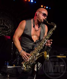 """Saxy"" GT, opening for Whitesnake with his solo band, 7/24/13."