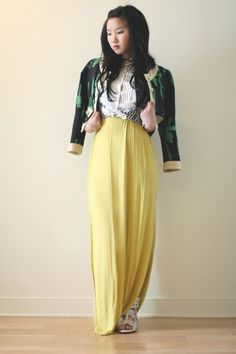 @jinnaboo Grease and Glamor   http://greaseandglamour.com/ wearing SS12 Textured Silk Jacket in Emerald