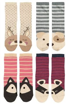 Animal Face Socks Four Pack.... cute and cosy #nextcosyhome