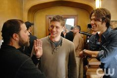 Play Things -- Behind the scenes  with (L-R) Jensen Ackles as Dean and Jared Padalecki as Sam in SUPERNATURAL on The CW. Photo: Sergei Bachlakov/The CW2006 The CW Network, LLC. All Rights Reserved.