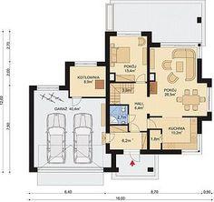 APS 266 + 2G - Rzut parteru Home Design Plans, Planer, Floor Plans, House Design, How To Plan, Future House, Home Plans, Architecture Illustrations, House Design Plans