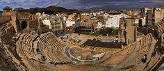 Panorama of the Roman Forum, Cartagena, Spain