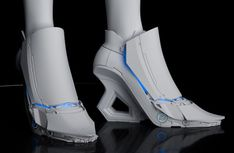 Cyber-minimal fashion & industry-leading curation of cyberpunk, dystopia, design, beats, & brutalism inspiration. This is what tomorrow looks like. Futuristic Shoes, Futuristic Costume, Vetements Clothing, Futuristisches Design, Fashion Shoes, Fashion Outfits, Steampunk Fashion, Gothic Fashion, Cyberpunk Fashion