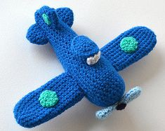 Amigurumi Flugzeug gefüllte Spielzeug häkeln Muster von ByMarika