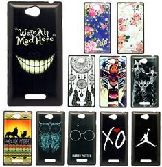 New Arrival Brand Case For Sony Xperia C CN3 S39h C2305 Unique Pattern Style Hard Plastic Mobile Protective Phone Case Cover