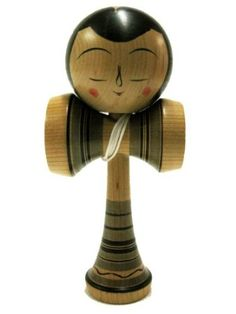 Kokeshi Kendama Hakusui Beauty : Japanese Traditional Wooden cup & ball game made in Japan