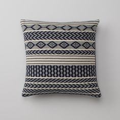Handwoven Mayan Throw Pillow - Navy