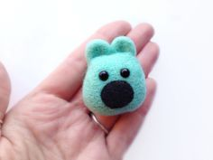 Felt Mint Teddy Bear Brooch - Made to Order Needle Felted Pastel Mint Green Animal Jewellery Pin by RebeccasEmporium on Etsy https://www.etsy.com/listing/117434287/felt-mint-teddy-bear-brooch-made-to