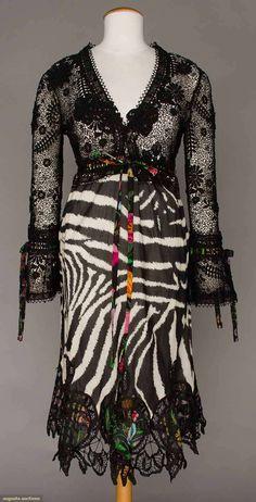 TOM FORD for GUCCI ZEBRA PRINT DRESS, c. 2000