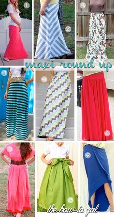 Easy Maxi Skirt DIYs