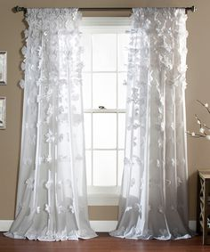 White Bo Curtain Panel | zulily