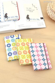 Active Bunko Book Sticky Notes have cute Japanese designs and hard covers that make them easy to toss into a backpack or purse.
