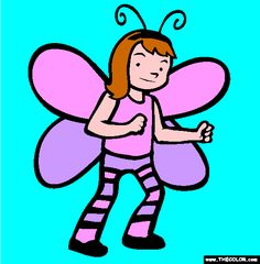 halloween butterfly costume online coloring page