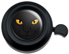 Cool and Custom {Fully Adjustable to Fit Most Bikes} Bicycle Handlebar Bell Made of Hard Metal with Cartoon Kitty Cat Face Design {Black, Gray and Yellow Colors} mySimple Products http://www.amazon.com/dp/B015X2VO90/ref=cm_sw_r_pi_dp_JqvMwb157N0W5