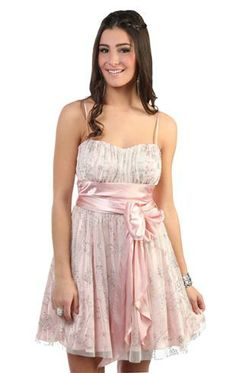 Peasant style pink party dress with soft satin skirt deb s on line