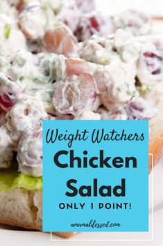Weight Watchers Chicken Salad – Low Points and Delicious! Weight Watchers Chicken Salad – Low Points and Delicious!,Weight Watchers Looking for something delicious to try this summer? Check out this Weight Watchers Freestyle chicken. Weight Watcher Dinners, Weight Watchers Lunches, Weight Watchers Meal Plans, Weight Watchers Smart Points, Weight Watchers Diet, Weight Watcher Breakfast, Weight Watchers Recipes With Smartpoints, Weight Watcher Recipes, Weight Watchers Appetizers
